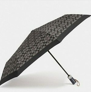 Coach Signature Umbrella Black/Gray